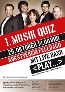 Plakat  1. Musik-Quiz Fellbach